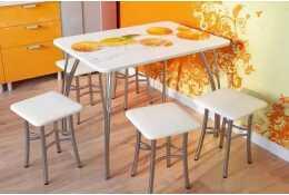 Стол обеденный с фотопечатью апельсины