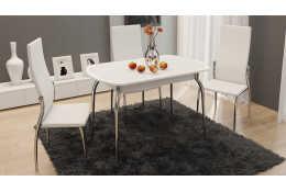 Стол обеденный раздвижной с хромированными ножками Ницца СМ-217.01.1