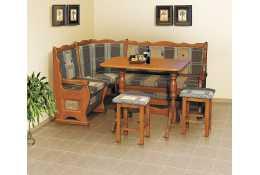 Угловой диван-1, стол,табурет