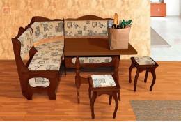 Угловой диван-2, стол,табурет
