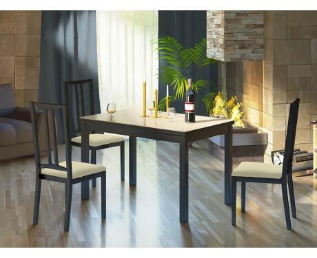 Обеденный раздвижной стол со стеклом Диез Т11 С-343