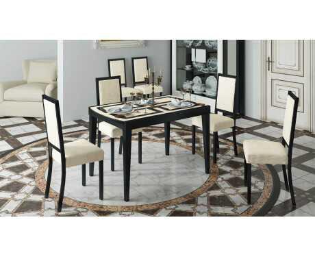 Обеденный раздвижной стол со стеклом Танго Т2 С-362